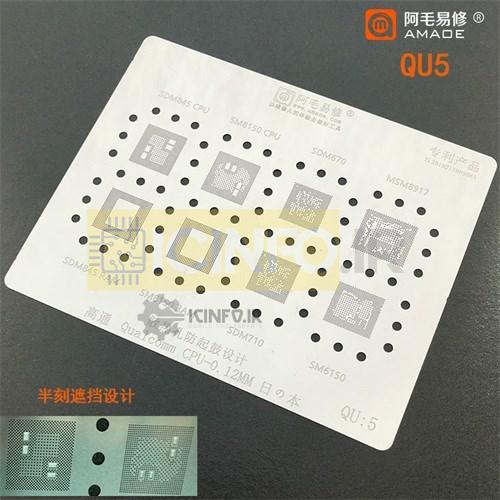 شابلون آی سی Qualcomm CPU ورق -QU5